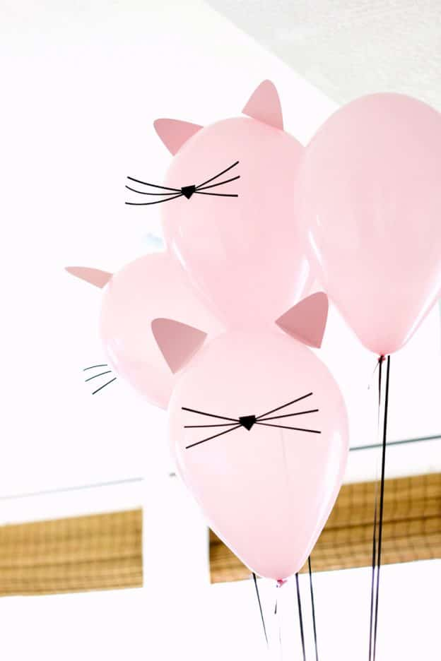 Kitty Cat Balloons | Cat Party ideas