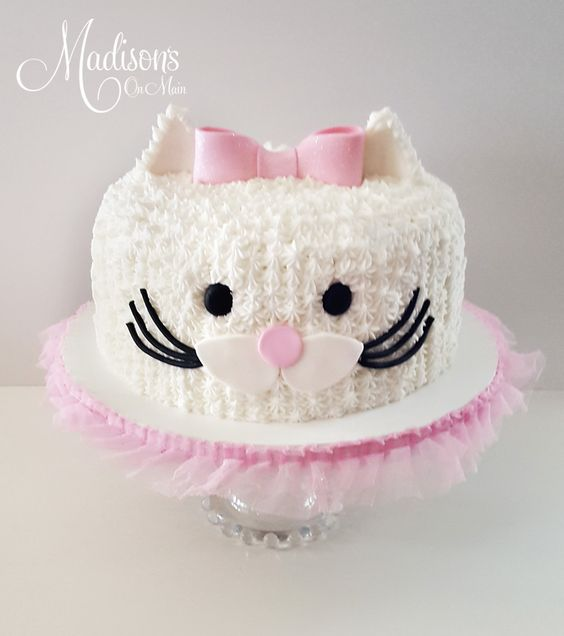 Pretty Kitty Cat Cake | Cat Party Ideas