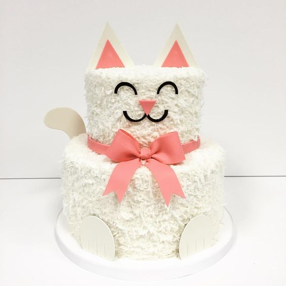 Kitty Cat Birthday Cake | Cat Party Ideas