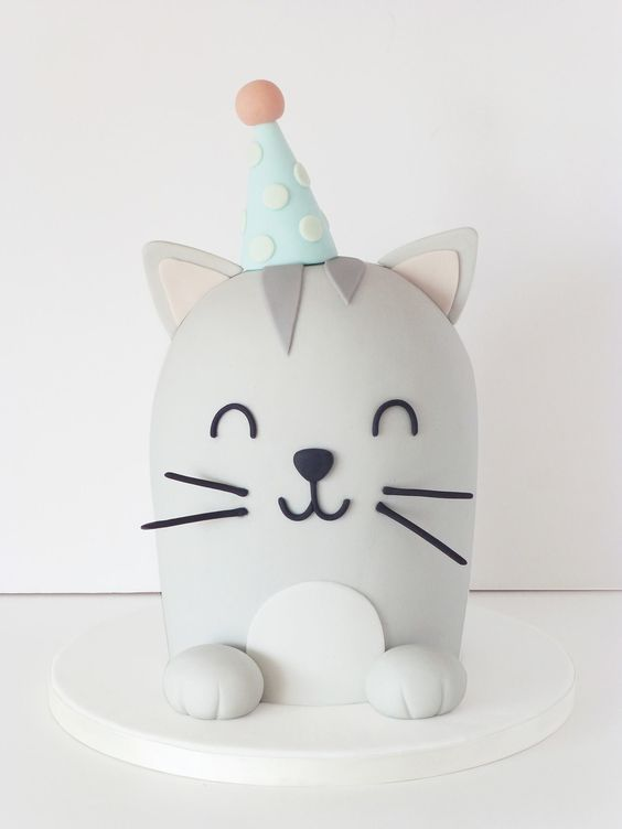 Kitty Cat Cake | Cat Party Ideas
