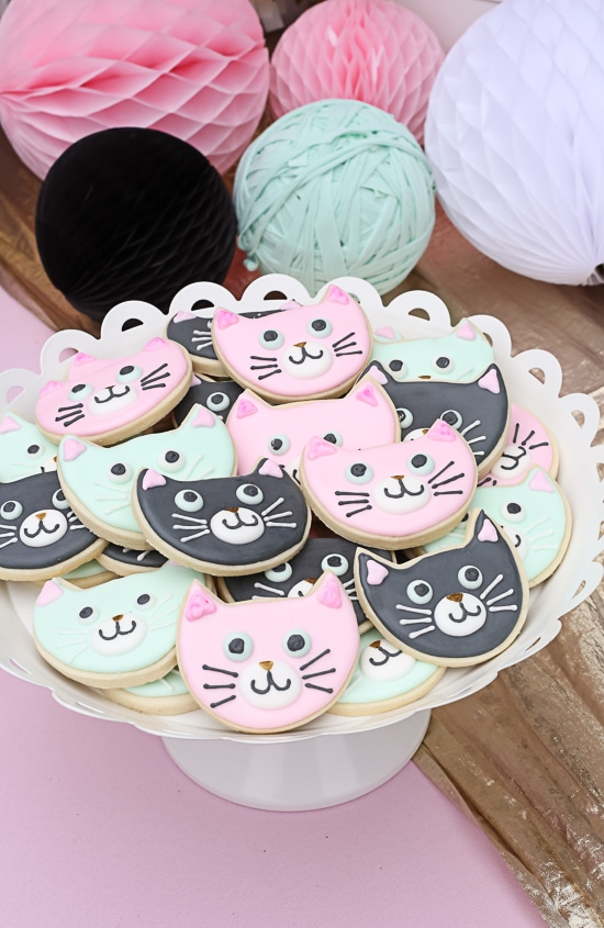 Kitty Cat Cookies | Cat Party Ideas