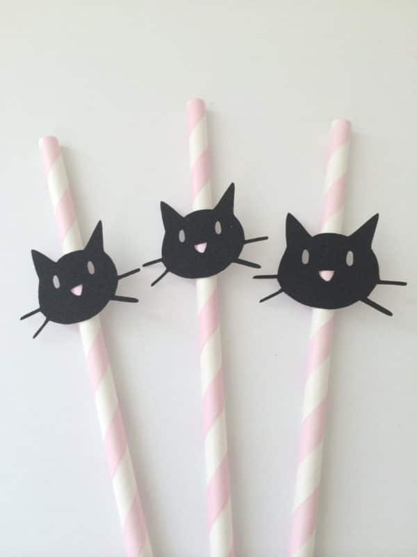 Kitty Cat Straws | Cat Party Ideas