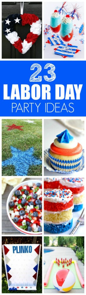 23 Perfect Labor Day Party Ideas | Recipes, Games, Decor | Featured on Pretty My Party