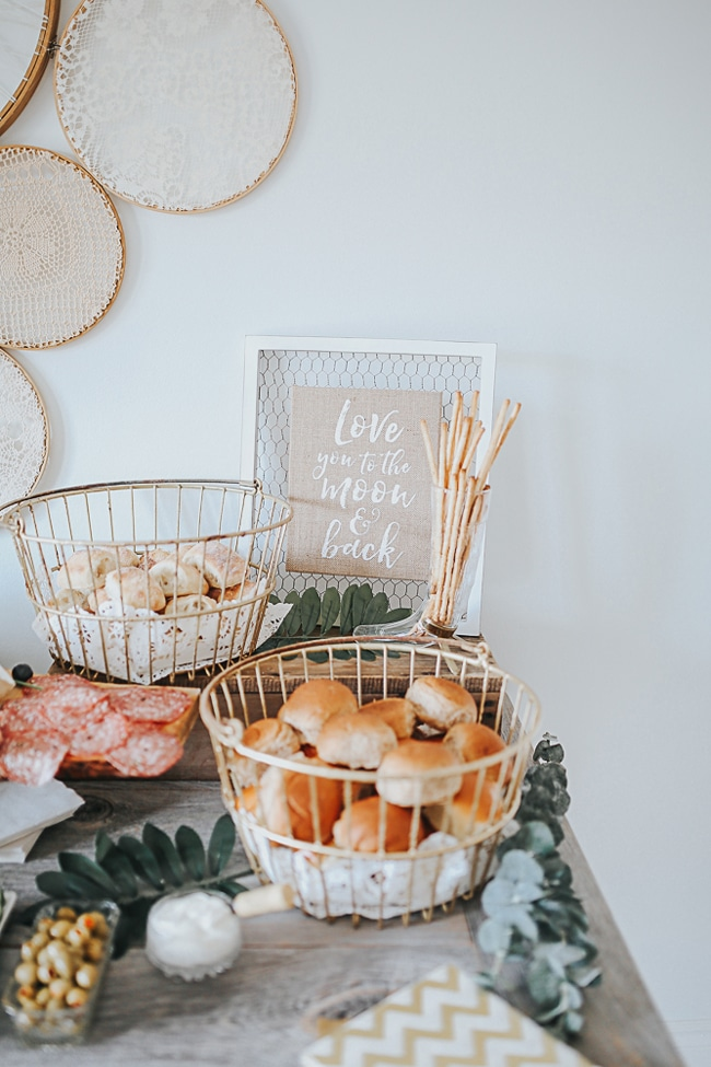 Love You To The Moon and Back Baby Shower featured on Pretty My Party