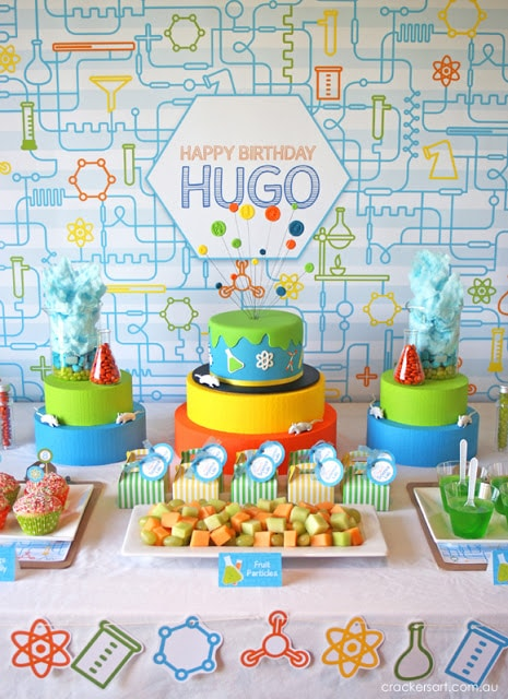 Mad Scientist Sweet Table | Mad Scientist Party Ideas