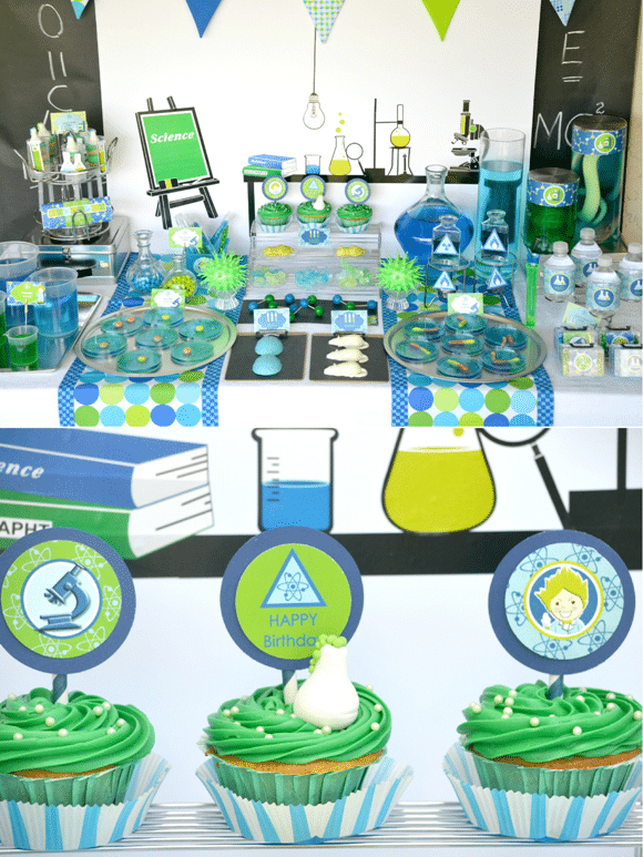 Mad Scientist Party Dessert Table | Mad Scientist Party Ideas