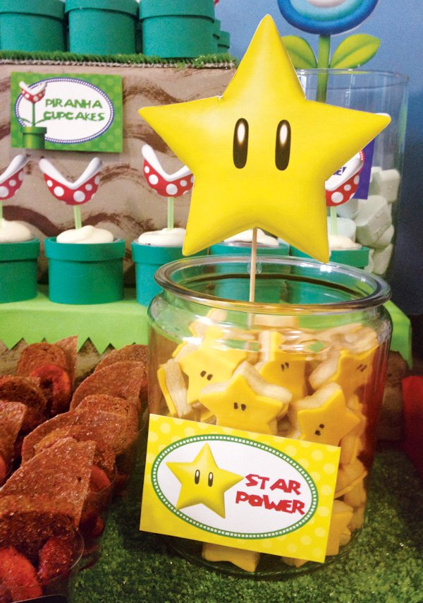 Star Power Cookies | Super Mario Party Ideas