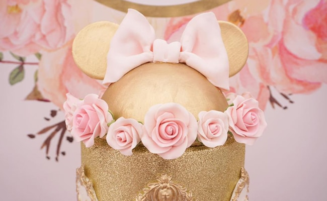 Pink And Gold Minnie Mouse First Birthday Party Pretty