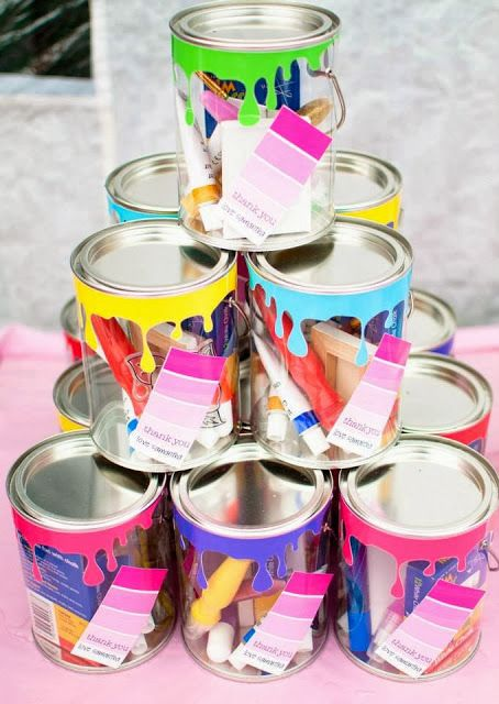 Paint Can Party Favors for Painting Party