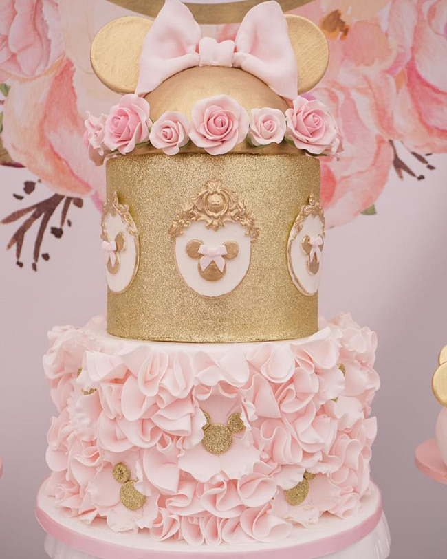 Pink and Gold Minnie Mouse First Birthday Party Pretty My Party