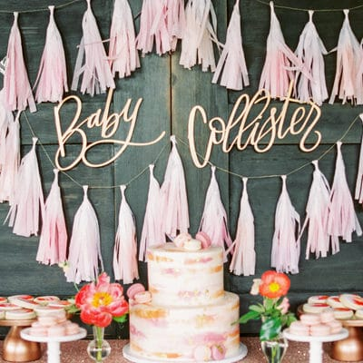 Pink Peony Inspired Baby Shower