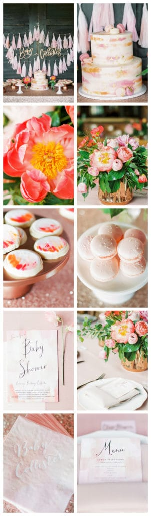 Pink Peony Inspired Baby Shower features on Pretty My Party