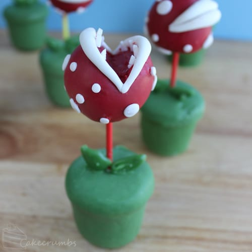 Piranha Plant Cake Pops | Super Mario Party Ideas