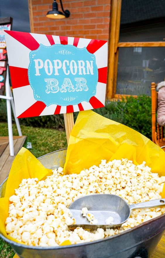 Popcorn Bar - Carnival Theme Party Ideas