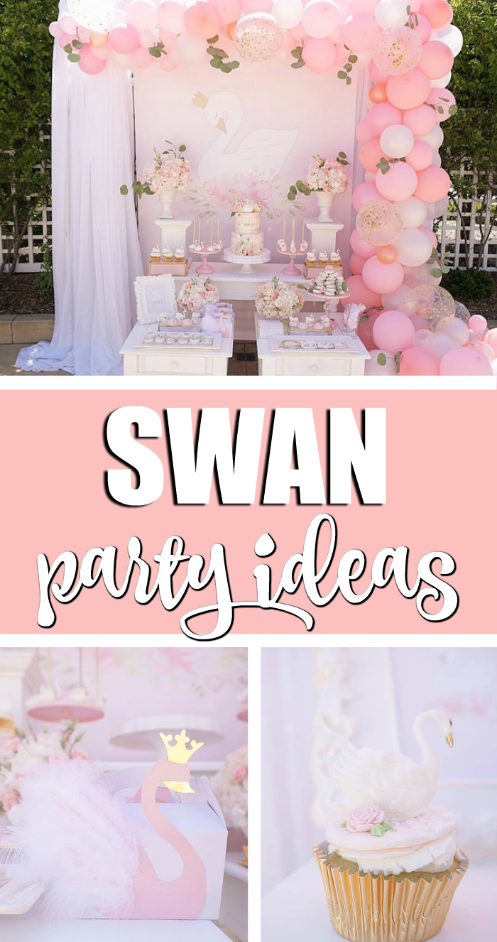 Pretty Swan Themed Birthday Party on Pretty My Party