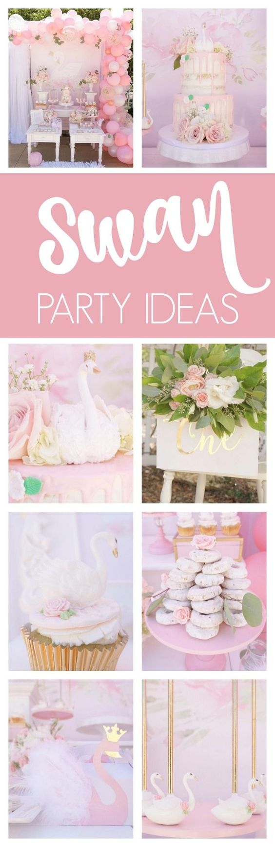 Pretty Swan Themed Birthday Party - Pretty My Party