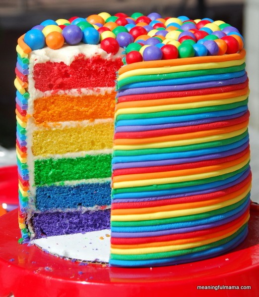 Rainbow Birthday Cake | Rainbow Party Ideas