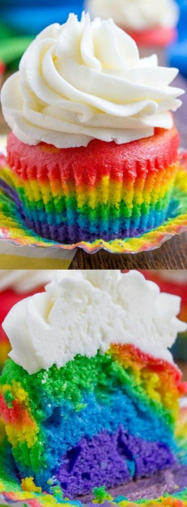 Rainbow Cupcakes | Rainbow Party Ideas