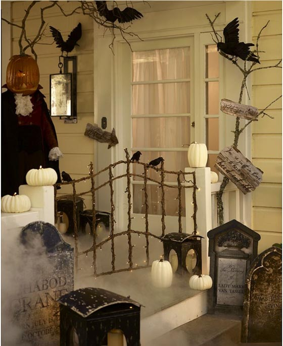 Spooky Tombstone Halloween Front Porch