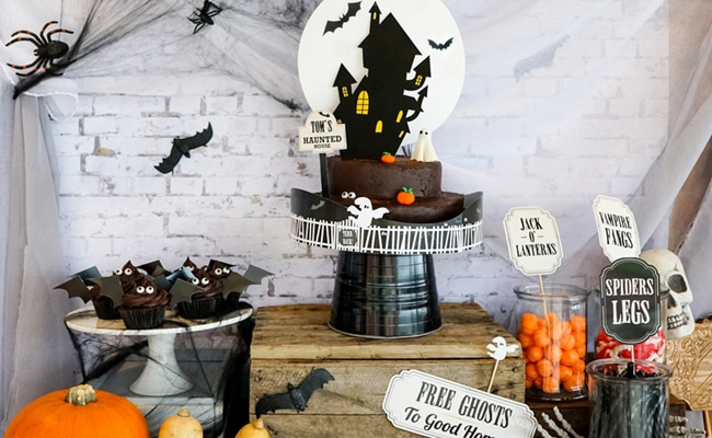 Spooky Haunted House Party featured on Pretty My Party
