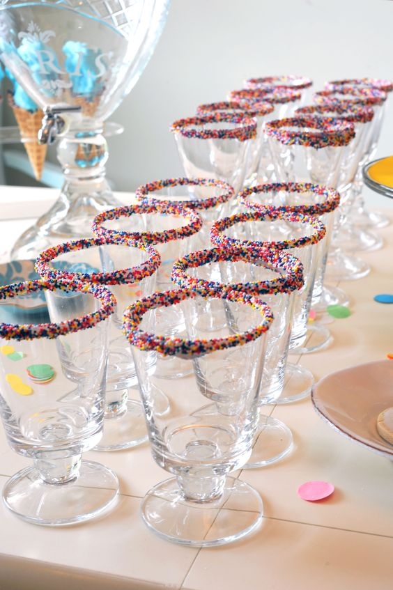 Sprinkle Ice Cream Cups | Ice Cream Party Ideas