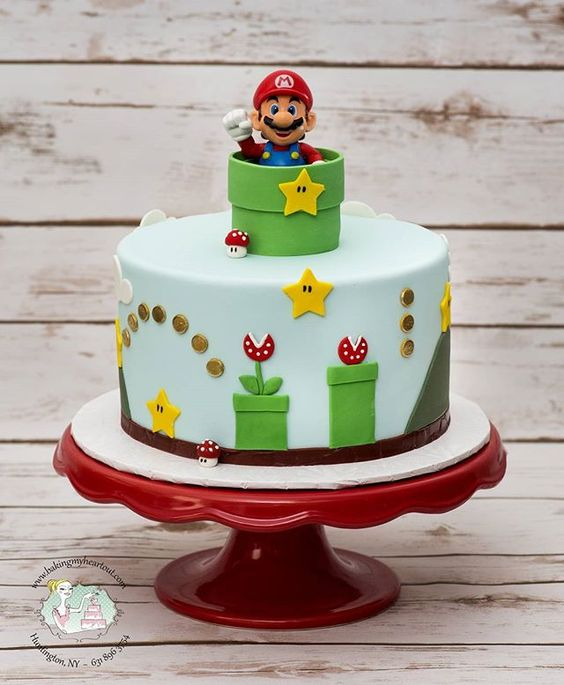 Super Mario Birthday Cake | Super Mario Party Ideas