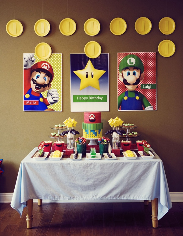 Super Mario Party Dessert Table | Super Mario Party Ideas