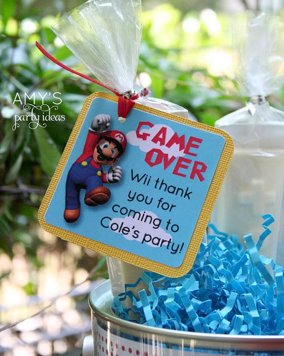 Super Mario Favor Tags | Super Mario Party Ideas