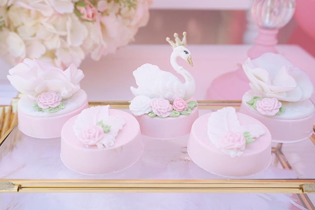 Pretty Swan Themed Birthday Oreos featured on Pretty My Party