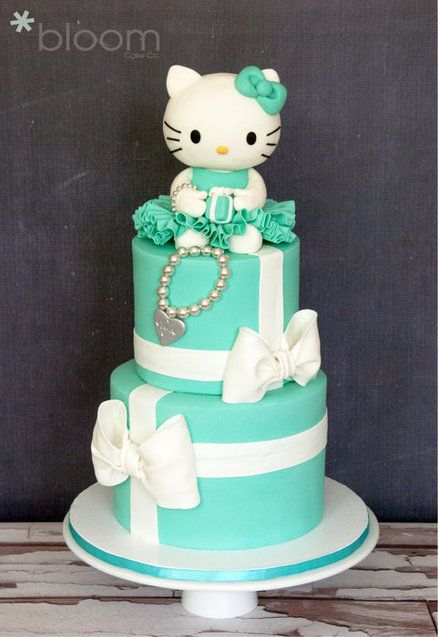 Tiffany-Inspired Hello Kitty Cake | Hello Kitty Party Ideas