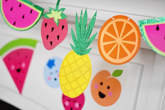 Fruit Banner for Tutti Frutti Themed Party