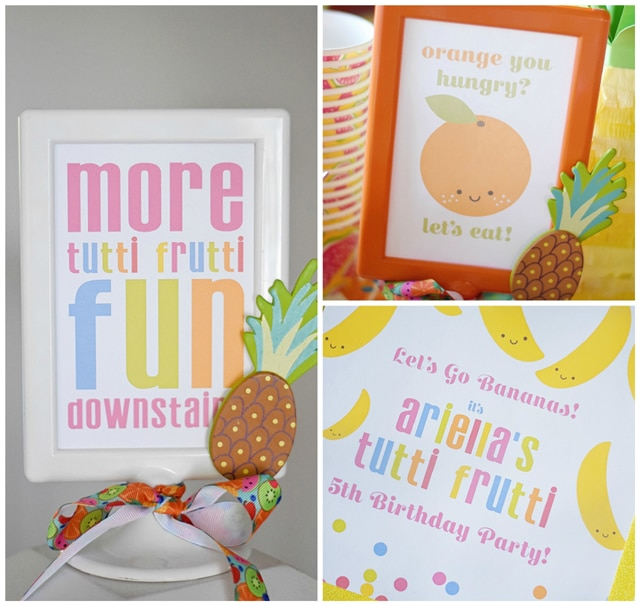 Cute and Clever Tutti Frutti Party Printables