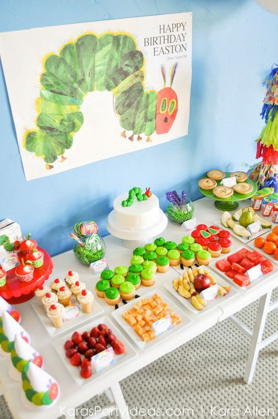 Very Hungry Caterpillar Dessert Table | Very Hungry Caterpillar Party Ideas