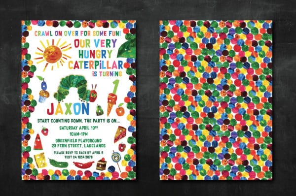 Very Hungry Caterpillar Invitation | Very Hungry Caterpillar Party Ideas