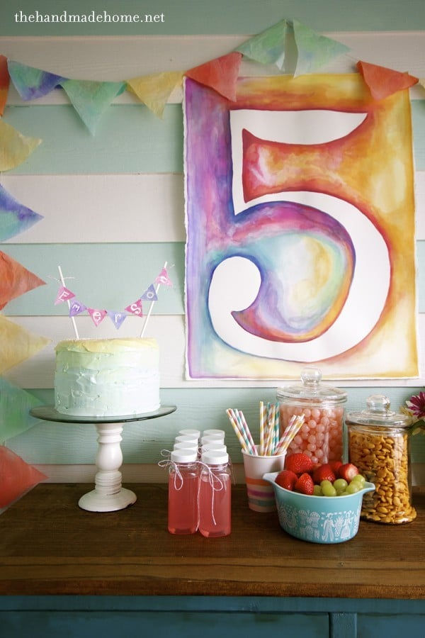Watercolor Art Party Decorations | Art Themed Party Ideas
