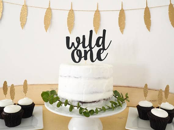 Wild One Cake Topper | Wild One Birthday Ideas