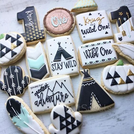 Wild One Cookies - Boys Wild One Birthday Ideas