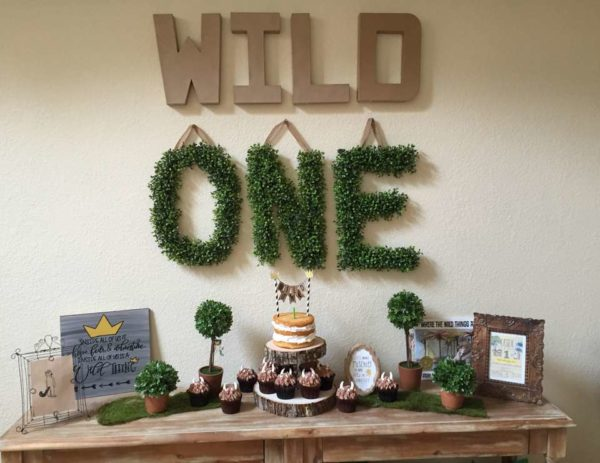 Wild One Dessert Table - Boys Wild One Birthday Ideas