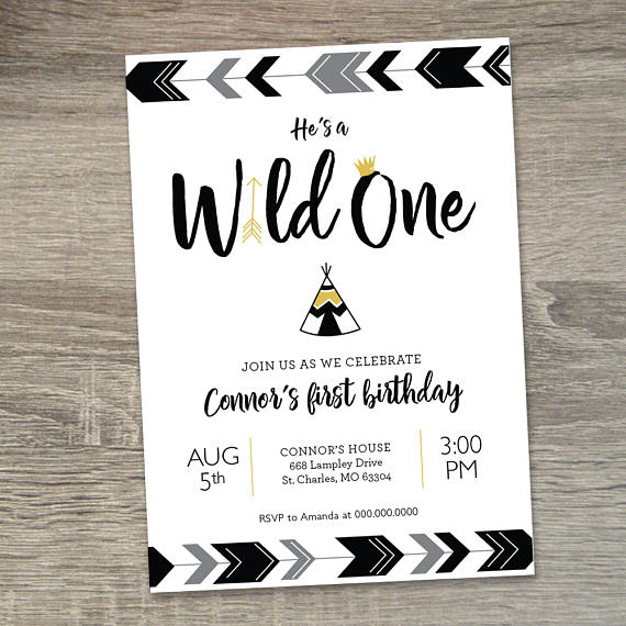 Wild One Party Invitation | Wild One Birthday Ideas