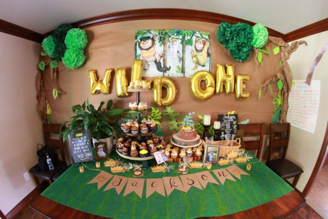 Wild One Sweets Table - Wild One Birthday Decorations