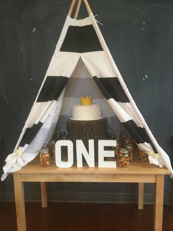 Wild One Tee Pee Cake Table - Wild One Birthday