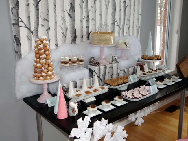 Winter Wonderland Party Desserts