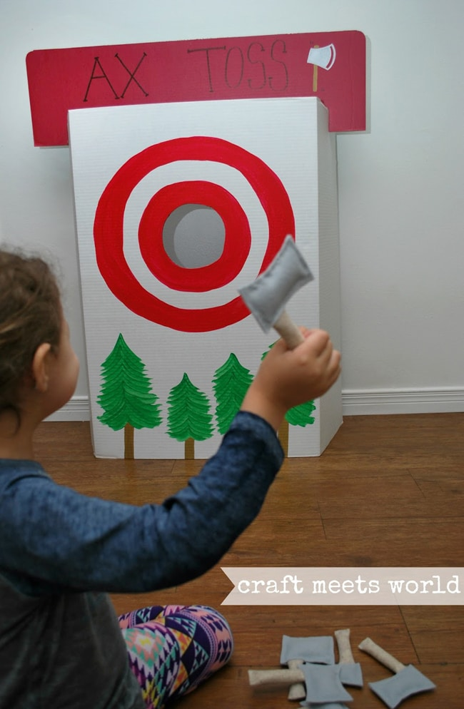 DIY Ax Toss Game | Lumberjack Party Ideas