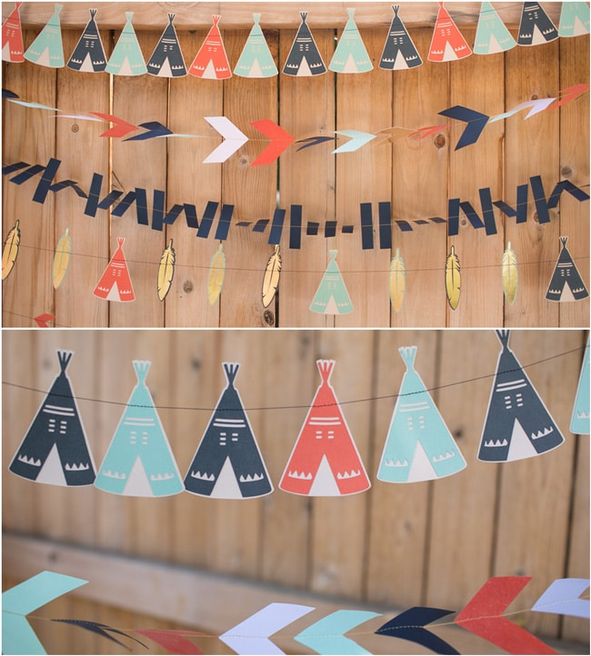 Wild One First Birthday Party Tribal Banner