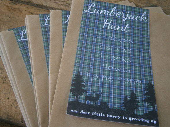 Lumberjack Scavenger Hunt | Lumberjack Party Ideas