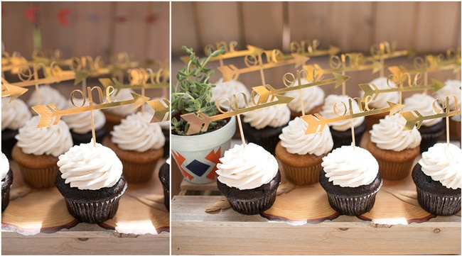 Wild One First Birthday Party Cupcakes
