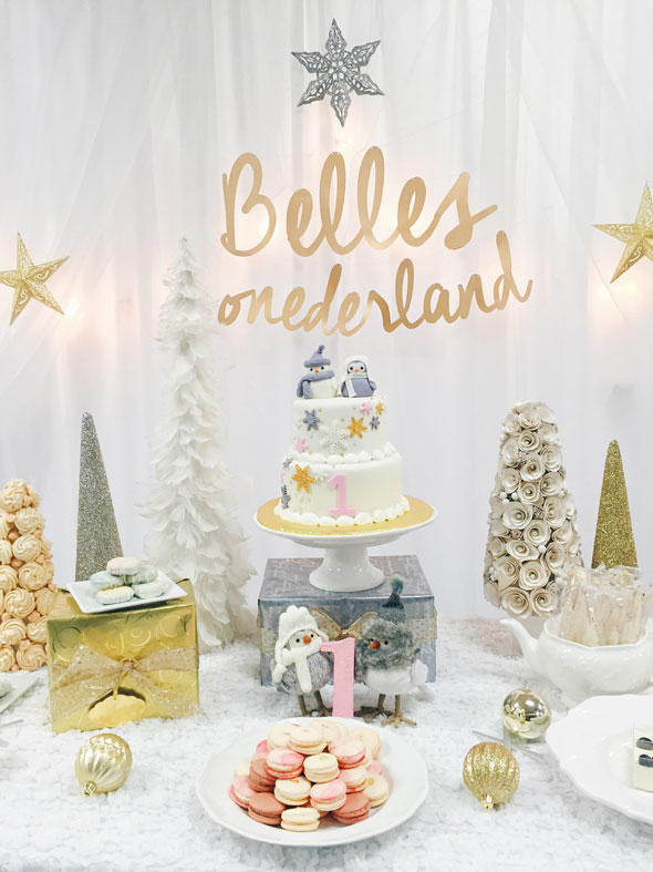 Winter ONE-derland Dessert Table | Winter Wonderland Party Ideas