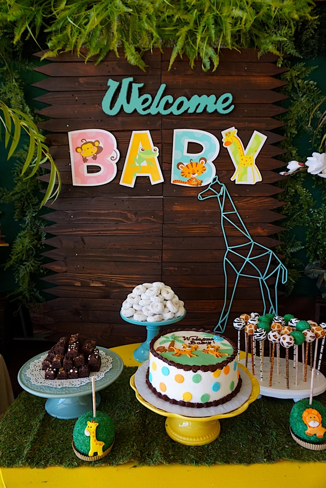 Elegant ... Animal Safari Themed Baby Shower Ideas ...