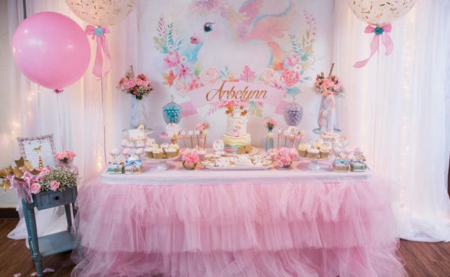 Baby Unicorn Themed First Birthday Party