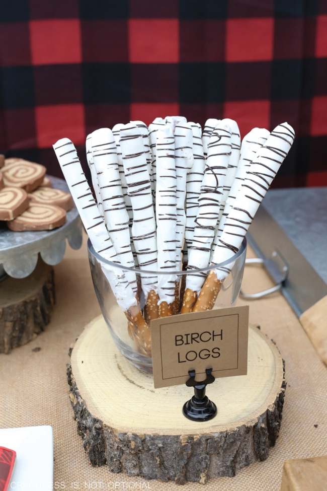 Birch Logs | Lumberjack Party Ideas